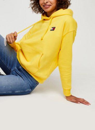 Gele Hoodie Dames Tommy Jeans