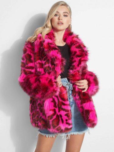 Roze Panter Bontjas Guess