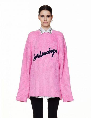 Balenciaga Pink Sweater Oversized