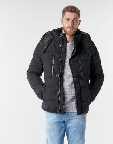 Tom Tailor Zwarte Winterjas Heren