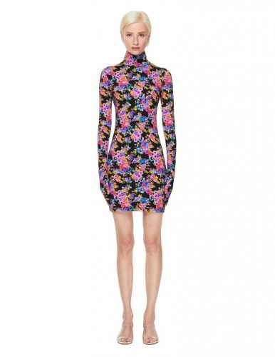 Vetements Floral Dress with Gloves