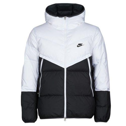 Zwart Witte Nike Winterjas Heren