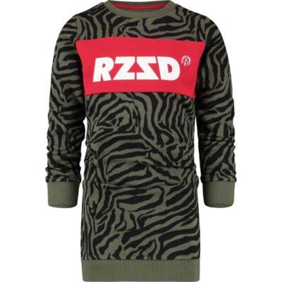 Raizzed Army Zebra Dress Girls