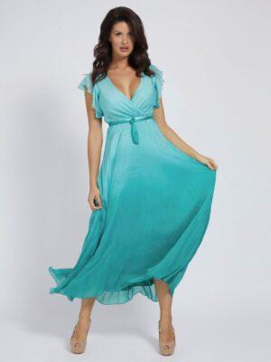 Silk Blend Long Dress Guess